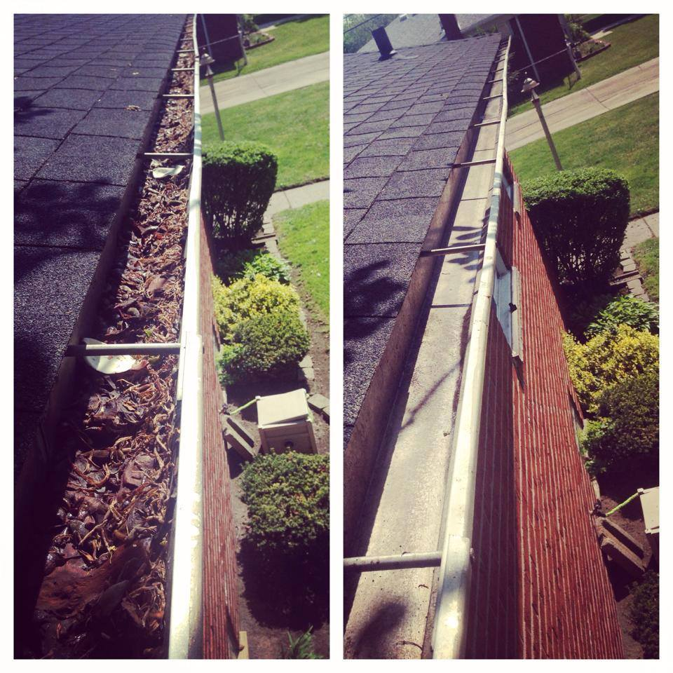 Gutter Cleaning Pictures - Houston, TX